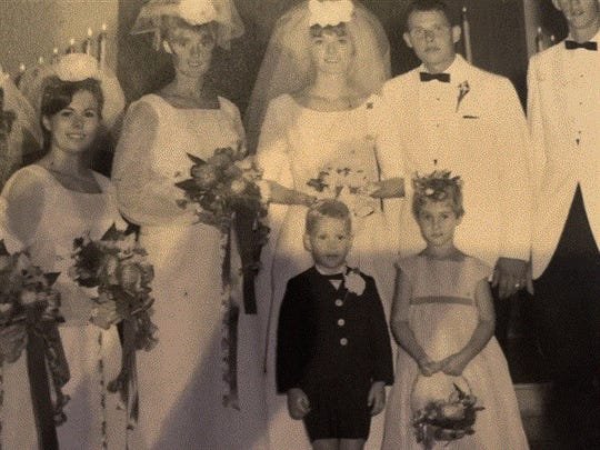 Margie McGlynn, second from left, in her sister's wedding