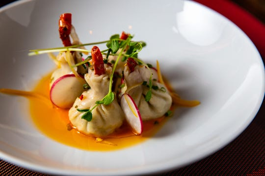 A signature David Burke dish: lobster dumplings