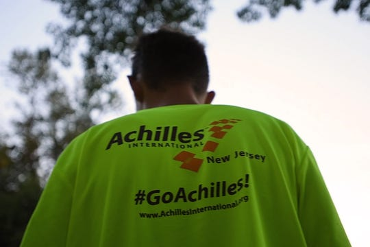 Before the start of a training run of the New Jersey chapter of Achilles in Saddle River Park on Wednesday, September 11, 2019. Achilles helps athletes with disabilities compete in races.