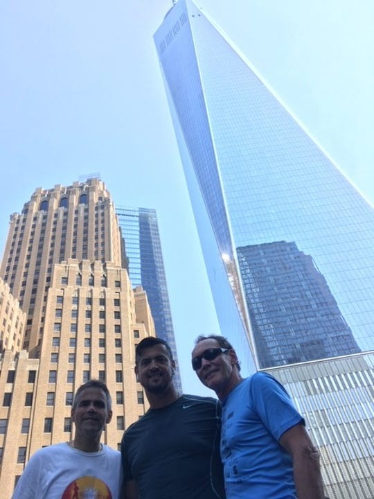 Frank DelVecchio, Ramon Hache, and Tim Eustace in lower Manhattan on Sept. 11.