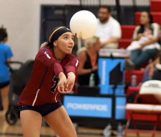 Senior Krista Jimenez and the Lady Wildcats back row was kept busy pick up for a big-hitting Silver High varsity Tuesday at Deming High. The Colts took a 3-1 match win.