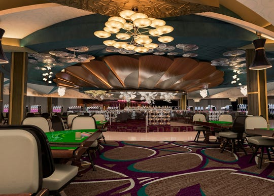 A rendering shows a remodeled portion of the first floor of the Morongo Casino Resort & Spa.