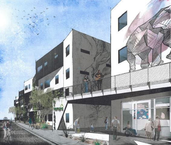 Minneapolis-based developer Artspace Projects Inc. is proposing to build up to 140 live-work units for artists near Dorsey Lane and Apache Boulevard.