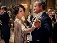 """Lord Grantham (Hugh Bonneville) and his wife (Elizabeth McGovern) dance in """"Downton Abbey."""""""