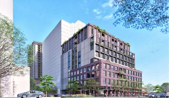 Developer Core Spaces is proposing to build an 11-story apartment complex where about 40 percent of the units would be rented by the bedroom.