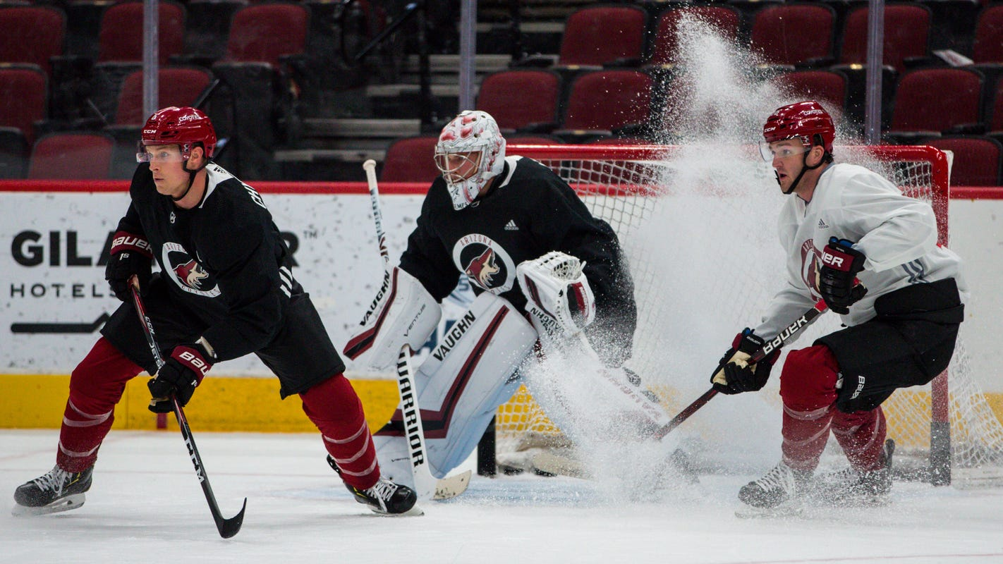 Arizona Coyotes' Jakob Chychrun gets back to work while Oliver Ekman-Larsson is day-to-day
