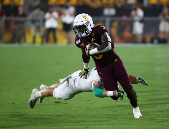 Arizona State running back Eno Benjamin and the rest of the Sun Devils face a difficult task at Michigan State.