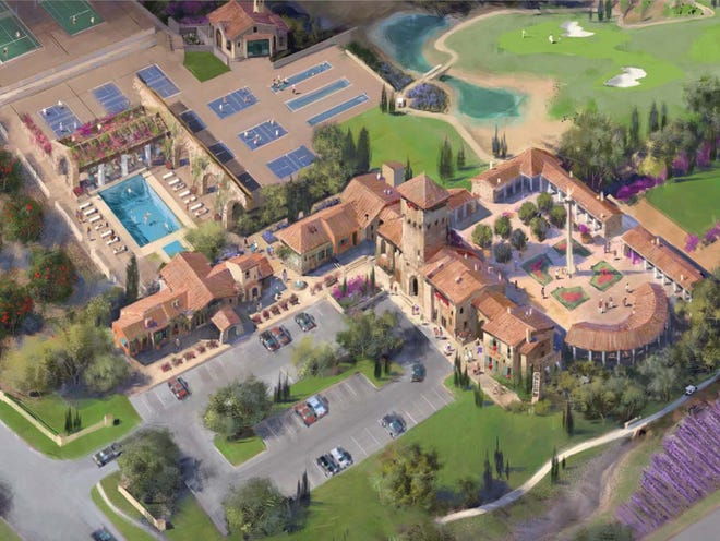 A rendering of the proposed Villages at Vigneto development near Benson.