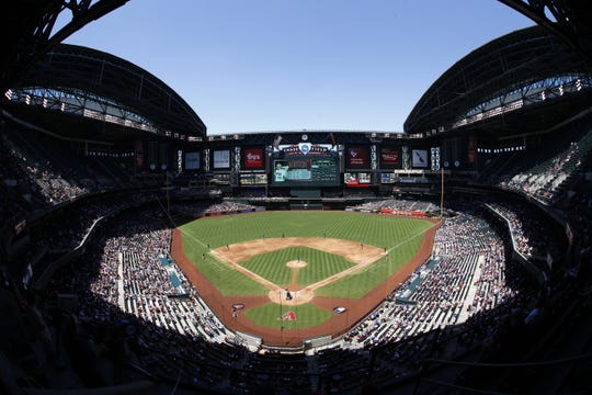 Roof open, New York Mets vs. Arizona Diamondbacks on Wednesday, May 17, 2017 at Chase Field in Phoenix, Ariz. ICON