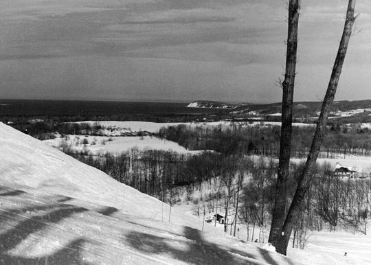 Lake Michigan can be seen from the slopes of Sugar Loaf Mountain in Leelanau County.