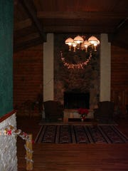 A fireplace in the lodge at Sugar Loaf ski resort nearly two decades ago.