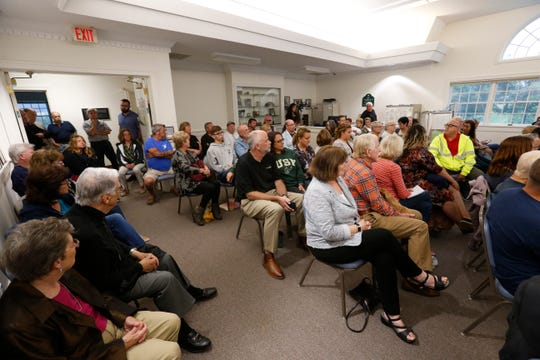 A crowd of citizens gathered at Union Vale Town Hall on September 12, 2019. The town organized a community meeting to discuss safety concerns following an August 17 plane crash in the area that killed 2.