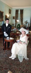 "Costumed performers reenact a tea in the drawing room of Mills Mansion. The historic site will offer ""America's Elite in the Downton Abbey Era,"" a tour which compares the fictional ""Downton Abbey"" to Staatsburgh."