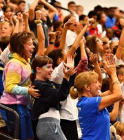 Unified Sports teams up with Dallastown Area Intermediate School during a pep rally at the school in Springfield Township, Friday, Sept. 13, 2019. Dawn J. Sagert photo