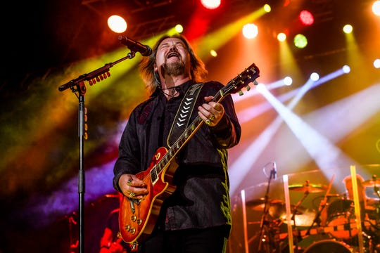 Travis Tritt performs on the Bobcat Grandstand Stage, Thursday, September 12, 2019.