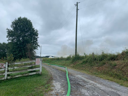 Dozens of emergency responders were sent to a barn fire in the 4600 block of East Prospect Road in Lower Windsor Township Friday, Sept .13. Christopher Dornblaser photo.