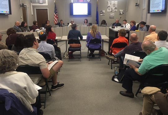 The Washoe County School Board meeting on Sept. 10,  2019.