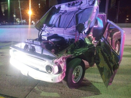 The 1966 Chevrolet pickup driven wrong-way on Interstate 80 early Friday morning.