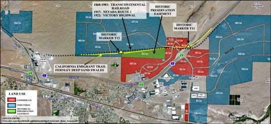 A map shows the Swales easement and the industrial property.