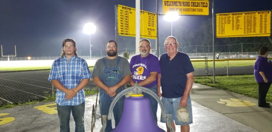 Lane, Ben, Brad and Marvin Culy (from left to right) at Mark Childs Field in Hagerstown.