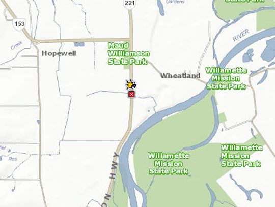 A crash closed Wallace Road north of Salem Friday afternoon.