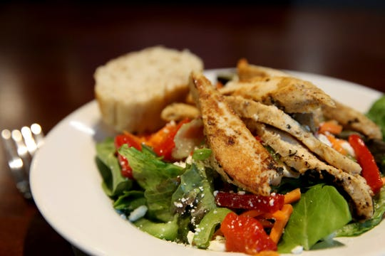 The southwest chicken salad available at Sweetly Baked in Salem on Sep. 11, 2019. The cupcake and dessert shop recently opened a second location that features an expanded menu on Hawthorne Ave. SE.