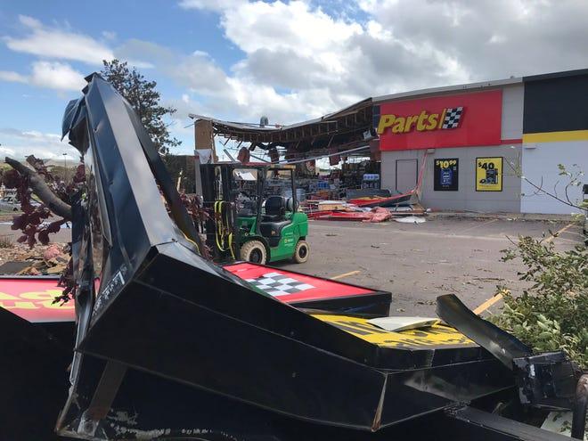 Advance Auto Parts following tornado damage.