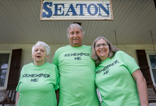 From left, Loretta Essary Mark Seaton, and Alice Seaton will be participating in the Alzheimer's Walk later this month.