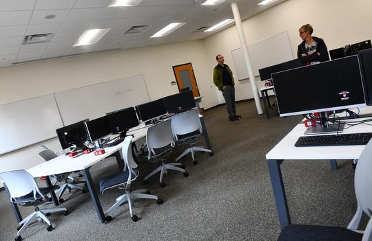 A renovated computer lab is pictured in the remodeled Main Building Wednesday, Sept. 11, at the College of St. Benedict in St. Joseph.