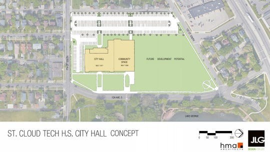 The city of St. Cloud plans to move its City Hall to the 1917 historic part of Technical High School. Community space would make up the 1938 part of the building.