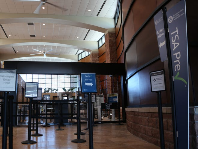 When the airport reopens on Sept. 26, passengers will find an additional security lane and ceiling fans.