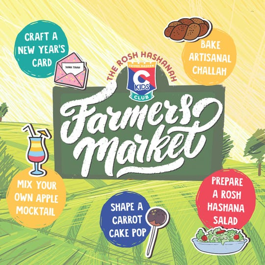 Rosh Hashana Farmers Market will be Sunday.