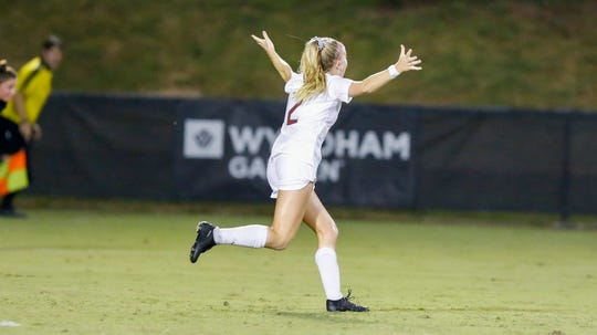 FSU midfielder Jenna Nighswonger scored twice, including the game winner, in FSU's 3-2 overtime win over No. 24 Colorado.