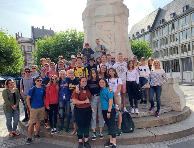 A number of students from Millville High School completed a homestay exchange this summer.