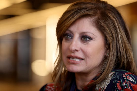 "Maria Bartiromo, host of the Fox Business Network show ""Maria Bartiromo's Wall Street"" photographed in Manhattan Sept. 13, 2019. Bartiromo is producing a documentary on artificial intelligence that will be aired on Fox on September 22nd. The documentary will highlight the future of the artificial intelligence and its possible impact on business."