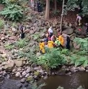A man was rescued from the Mahwah River in Suffern on Sept. 12, 2019, after falling off of a bridge.