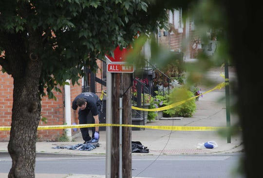 Wilmington police respond to a second shooting of the day on Friday morning, with multiple victims at North Monroe Street and West 5th street.