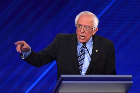 Democratic presidential hopeful Vermont Senator Bernie Sanders speaks during the third Democratic primary debate of the 2020 presidential campaign season hosted by ABC News in partnership with Univision at Texas Southern University in Houston, Texas on September 12, 2019.