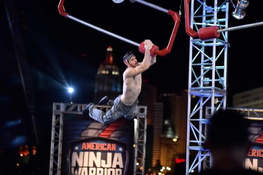 """Drew Drechsel competes on NBC's """"American Ninja Warrior"""" finale."""