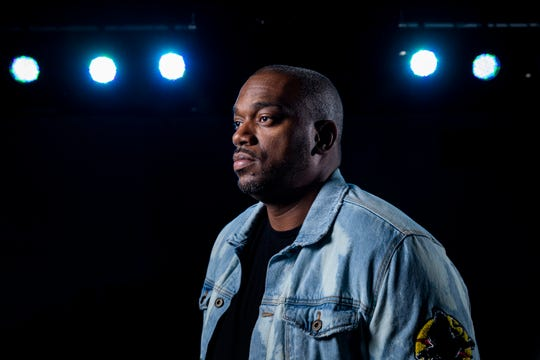 9/13/19 5:03:10 PM -- Tallahassee, FL, U.S.A  -- Adrian Crawford, lead pastor of Engage Church, in the worship space of his Tallahassee, Fla. church.  Adrian Crawford, lead pastor of Engage Church, in the worship space of his Tallahassee, Fla. church.  Following the suicide of a celebrity pastor, we speak with pastor Adrian Crawford about his own mental health struggles. --    Photo by Colin Hackley, Freelance ORG XMIT:  CH 138253 Adrian Crawford 9/13/ [Via MerlinFTP Drop]