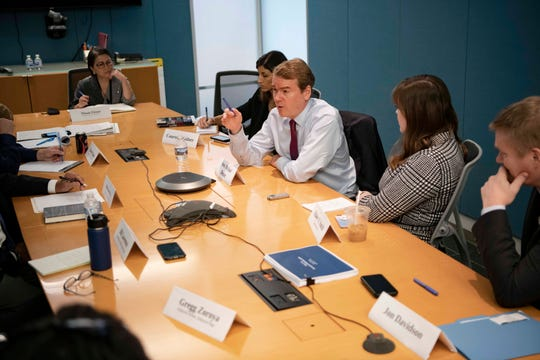 Sen. Michael Bennet, D-Colo., discusses his presidential candidacy with the USA TODAY Editorial Board on Sept. 11, 2019.