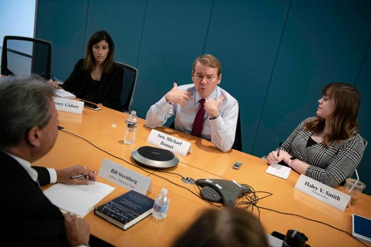 Democratic presidential candidate  Michael Bennet meets with the USA TODAY Editorial Board on Sept. 11, 2019.
