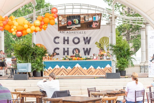 Food and drink - and their makers - were the stars of the inaugural Chow Chow festival Sept. 14, 2019, at Pack Square Park in Asheville.