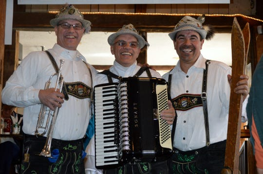 The Bavarian Brothers orchestra, from Westport, Massachusetts, will provide music at Saturday's Oktoberfest.