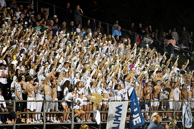 Shawnee High School football fans pictured during the game against Cherokee. The Renegades topped the Chiefs, 17-6, at the William H. Foltz Stadium.