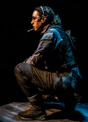 """Hannah Jones plays Lieutenant Zala, leader of an intergalactic rescue mission, in """"The Absentee."""" The play runs at the Know Theatre through Oct. 5, 2019."""
