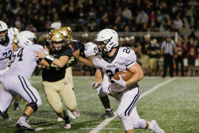 The Bridgewater-Raritan and Hillsborough high school football teams met Friday night at Noonan Field.