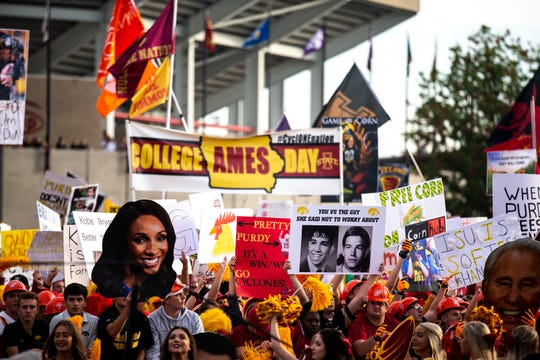 "This is the first time ""College GameDay"" has taken its show to Ames."