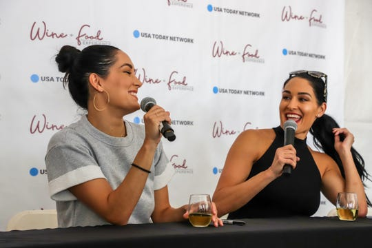 Nikki and Brie Bella, WWE Champions, reality TV stars and now winemakers will host a private tasting of their Bella Radici wines, produced in Napa, Calif., during  at the IndyStar Wine & Food Experience Sept. 28, 2019, at Clay Terrace in Carmel.