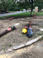 Fire hydrants were dug-up during street construction and none were available to aid in the fire, officials said.